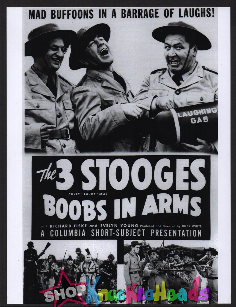 The Three Stooges BOOBS IN ARMS LOBBY CARD 8X11: #21 - READY TO SHIP