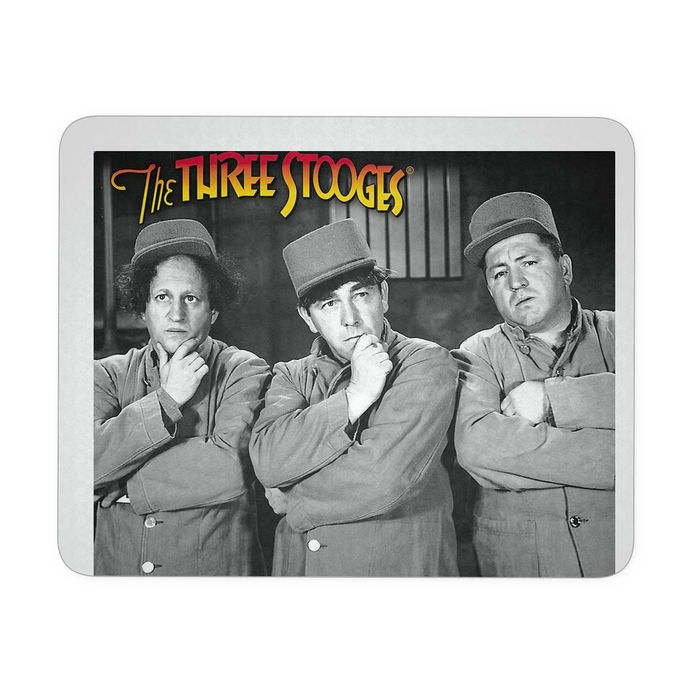 Three Stooges Mouse Pad - Thinking