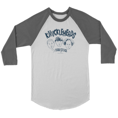 THREE STOOGES 3/4 SLEEVE T-SHIRT: KNUCKLEHEADS