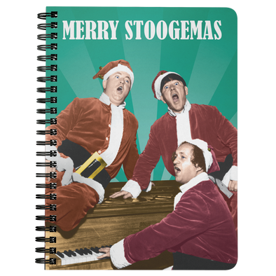 Three Stooges Christmas Notebook - FREE SHIPPING
