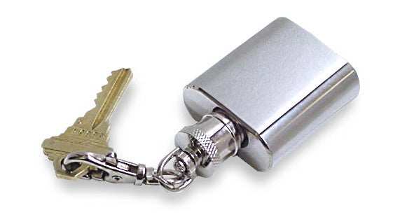 1 oz. Stainless Steel Flask Key Chain