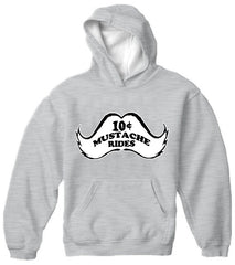 10 Cent Mustache Rides Adult Hoodie Light Grey