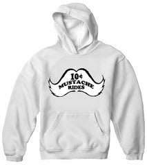 10 Cent Mustache Rides Adult Hoodie White
