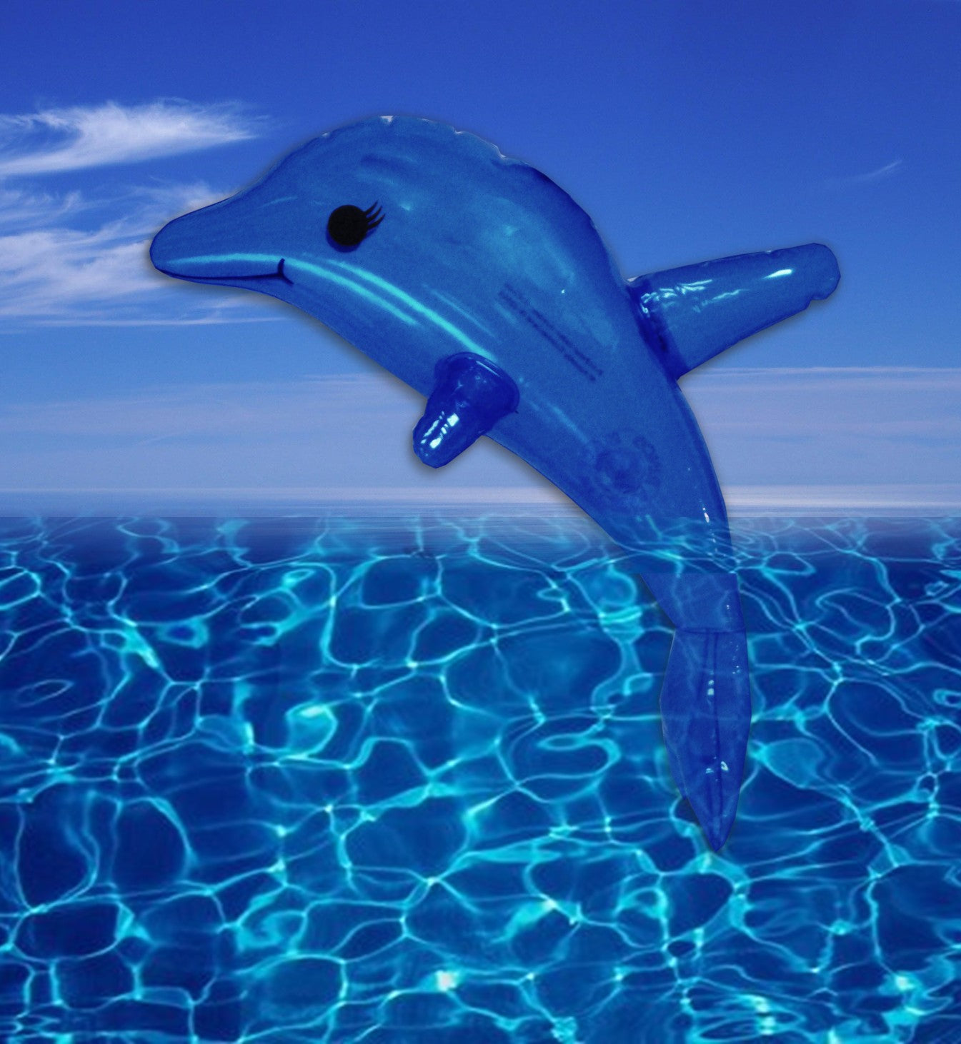 11 Inch Blue Inflatable Dolphin