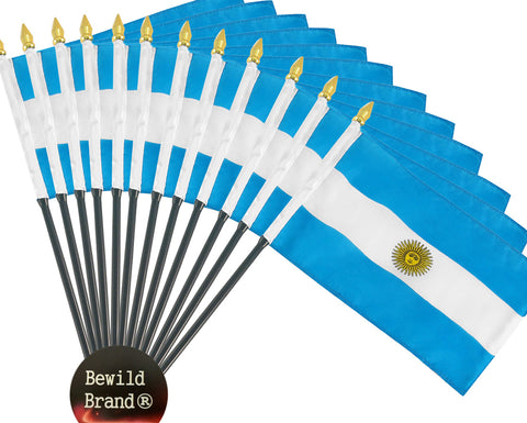 12 Pack of 4x6 Inch Argentina Flag (12 Pack)