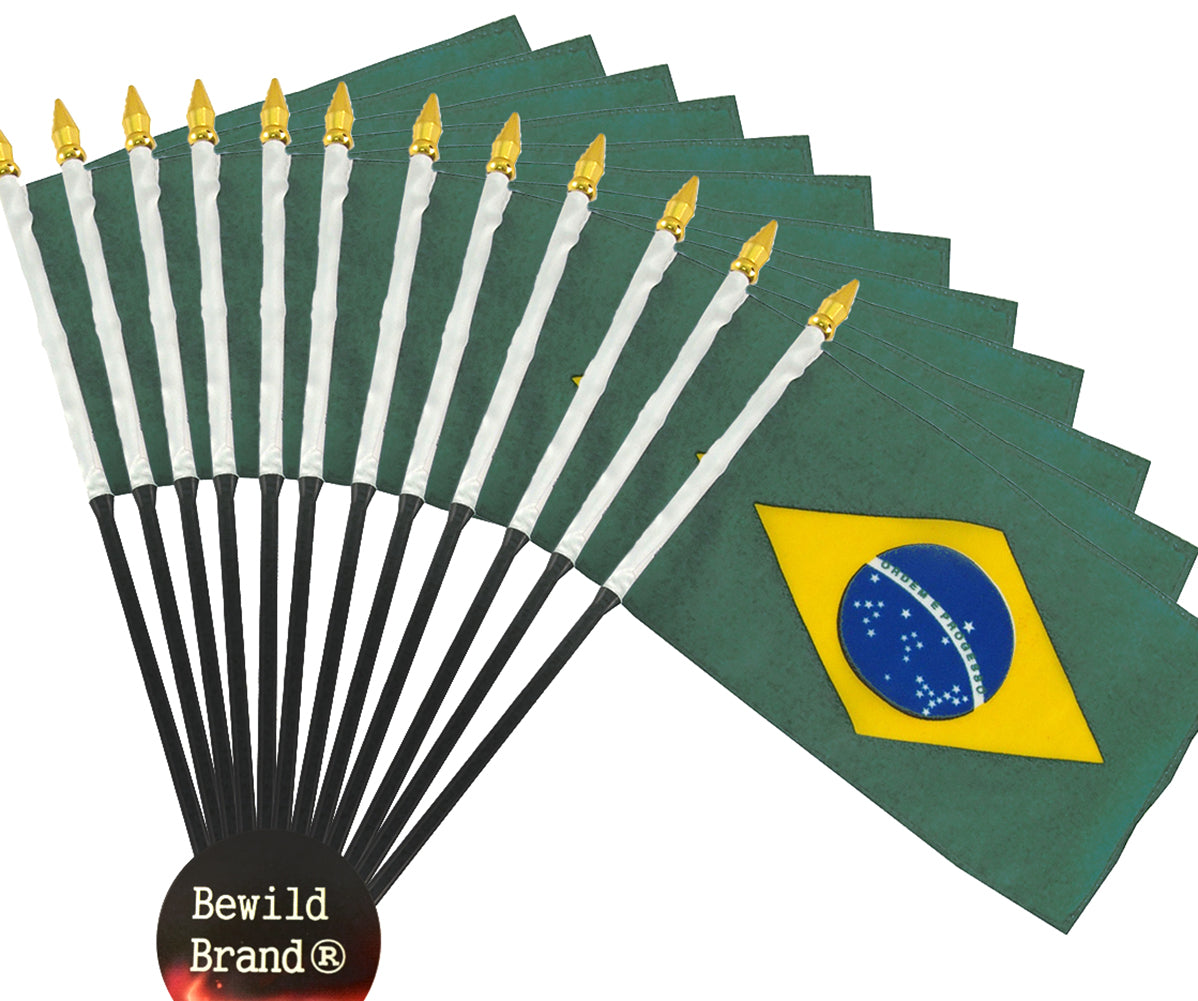 12 Pack of 4x6 Inch Brazil Flag (12 Pack)
