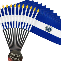 12 Pack of 4x6 Inch El Salvador Flag (12 Pack)