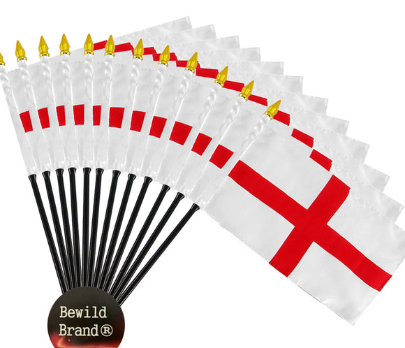 12 Pack of 4x6 Inch England Flag (12 Pack)