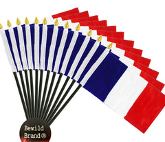 12 Pack of 4x6 Inch France Flag (12 Pack)