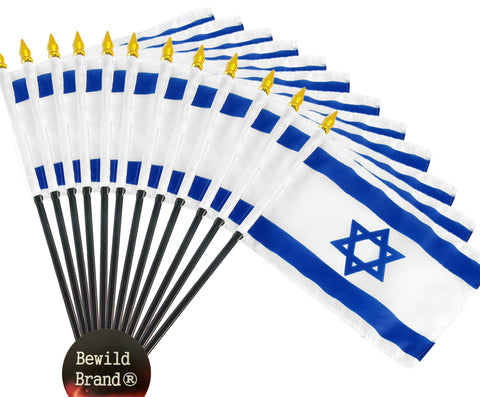 12 Pack of 4x6 Inch Israel Flag (12 Pack)