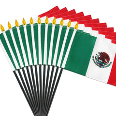 12 Pack of 4x6 Inch Mexican Flag (12 Pack)