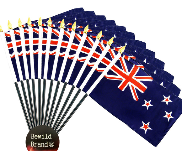12 Pack of 4x6 Inch New Zealand Flag (12 Pack)