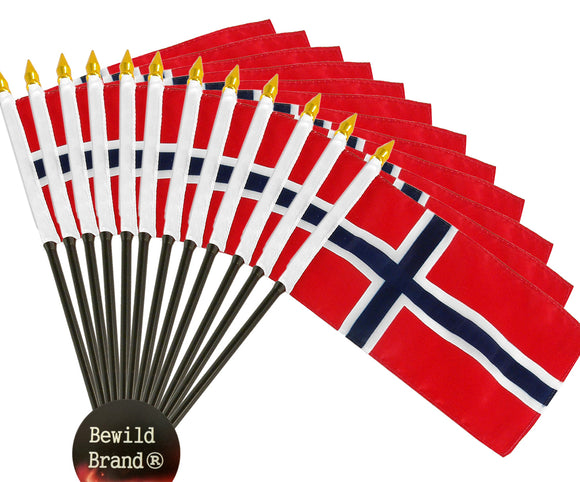 12 Pack of 4x6 Inch Norway Flag (12 Pack)