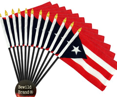 12 Pack of 4x6 Inch Puerto Rico Flag (12 Pack)