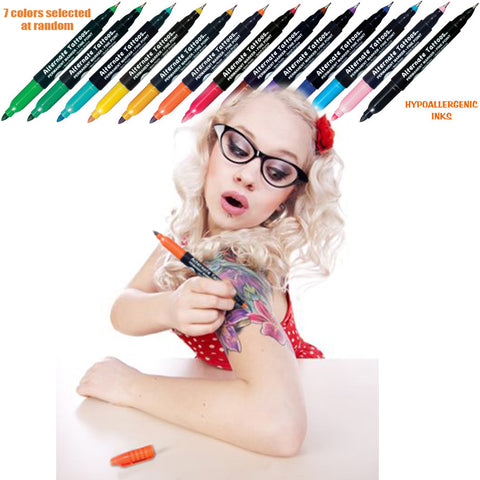 Temporary Tattoo - 18-Piece Temporary Tattoo Pen Kit