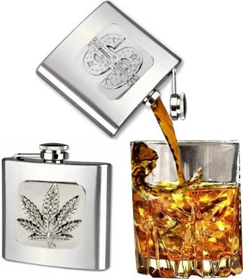 2 oz Stainless Steel Designer Hip Flask