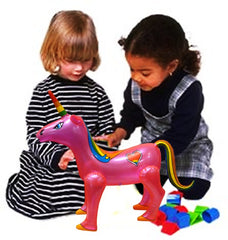 28 Inch  Inflatable Unicorn in Assorted Colors