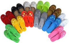 3 Pairs Assorted Mesh Chinese Slippers
