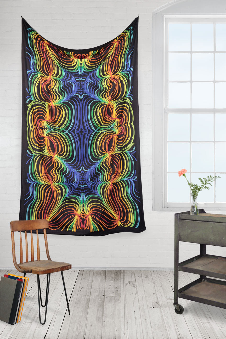 3D Rainbow Ripple Tapestry 60 x 90""