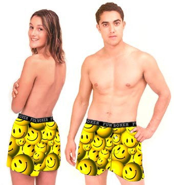 3D Smiley Boxer Shorts