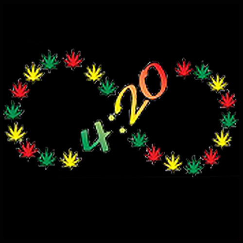 420 Infinity Pot Leaves  Men's T- Shirt