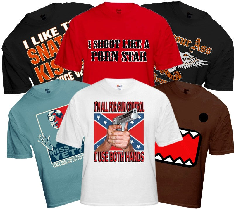 6 Assorted T-Shirts - T-Shirt Clearance Megapack Only $2 a Shirt