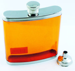 6 oz. Acrylic  Pocket Flask with Funnel