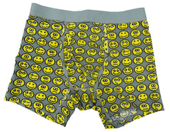 8 Bit Digital Emoticon Boxer Brief (Light Grey)