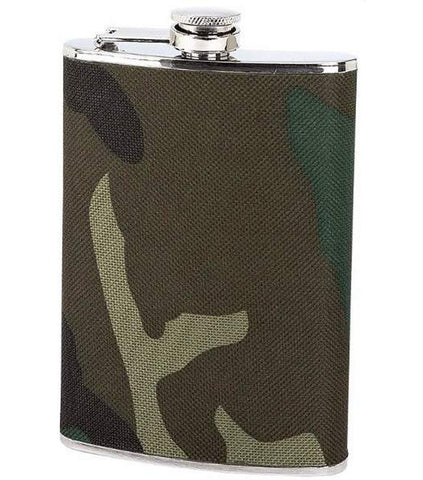 8oz Stainless Steel Flask with Camo Wrap