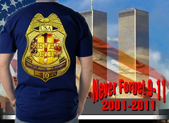 9/11 10th Anniversary NYPD  Memorial T-Shirt