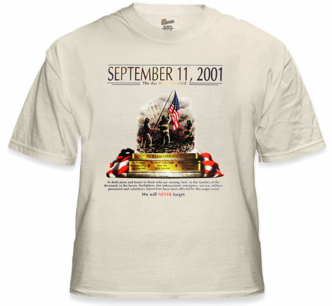 9/11 Never Forget Memorial T-Shirt