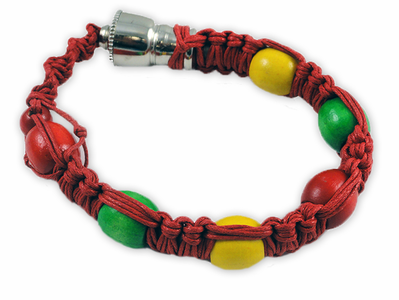 Braided Hemp Hookah Pipe Bracelet