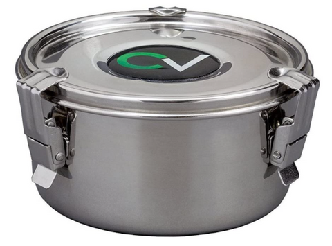 CVault Stainless Steel Humidity Control Stash Container w/Humidity Pack