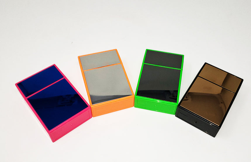 Flip top Mirrored Neon Cigarette Case (For Regular Size Only)