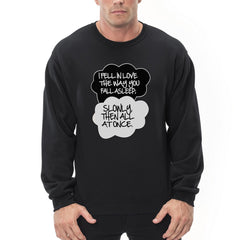 """I Fell In Love"" John Green Quote from The Fault in Our Stars Crew Neck Sweatshirt"