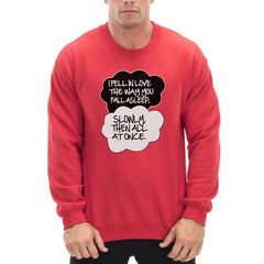 """I Fell In Love"" John Green Quote from The Fault in Our Stars Crew Neck Sweatshirt Red"