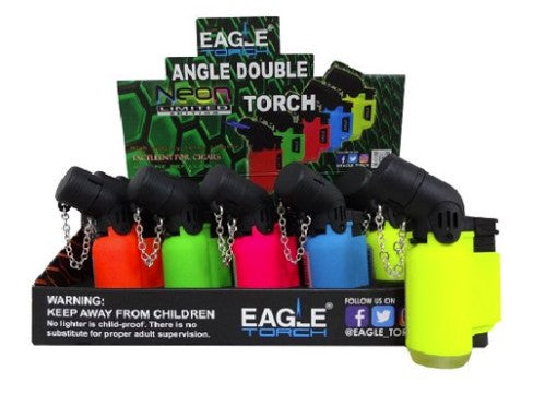 Eagle Angle Torch Lighter Neon 3.25""