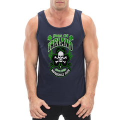 Sons of Ireland Shamrock Skull Biker Top