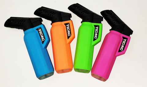 Techno Neon Large Torch Lighter 4""