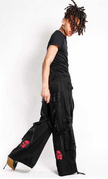 Tripp Back Up Skull Pants (Black/Red)