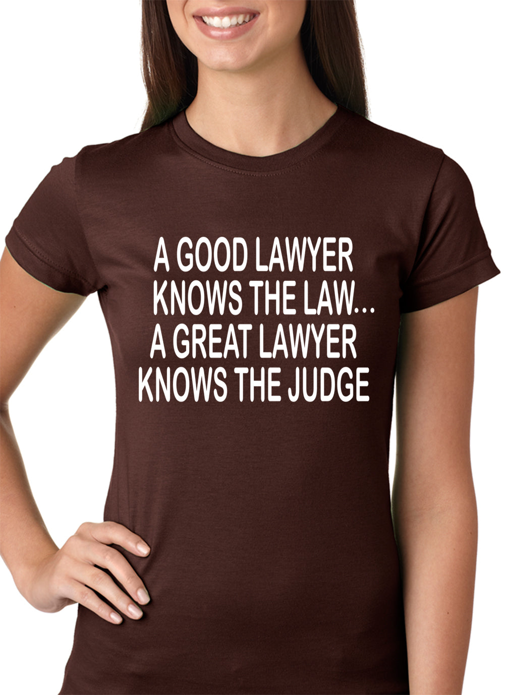 A Good Lawyer Girls T-shirt Brown