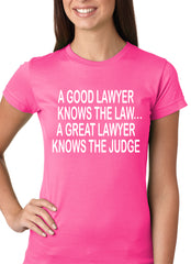 A Good Lawyer Girls T-shirt Hot Pink