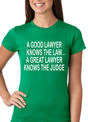 A Good Lawyer Girls T-shirt Kelly Green