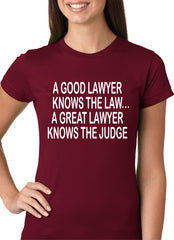 A Good Lawyer Girls T-shirt Maroon