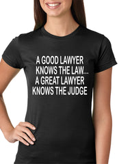 A Good Lawyer Girls T-shirt Black