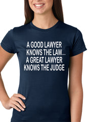A Good Lawyer Girls T-shirt Navy Blue