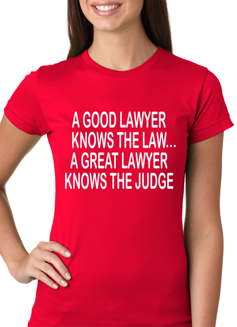 A Good Lawyer Girls T-shirt Red
