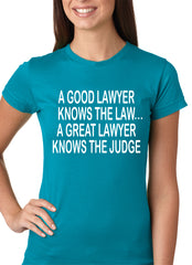 A Good Lawyer Girls T-shirt Turquoise