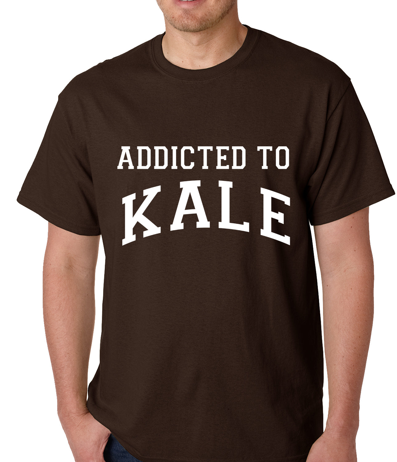 Addicted to Kale Mens T-shirt Brown