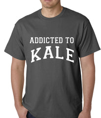 Addicted to Kale Mens T-shirt Charcoal Grey